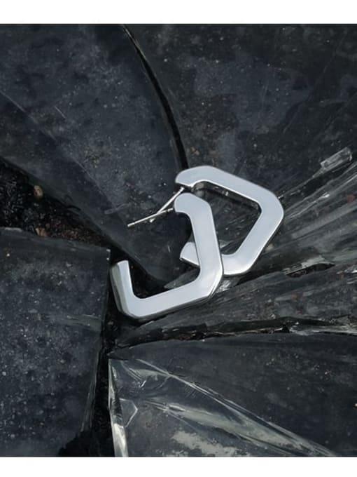 TINGS Brass Smooth Geometric Minimalist Stud Earring 0