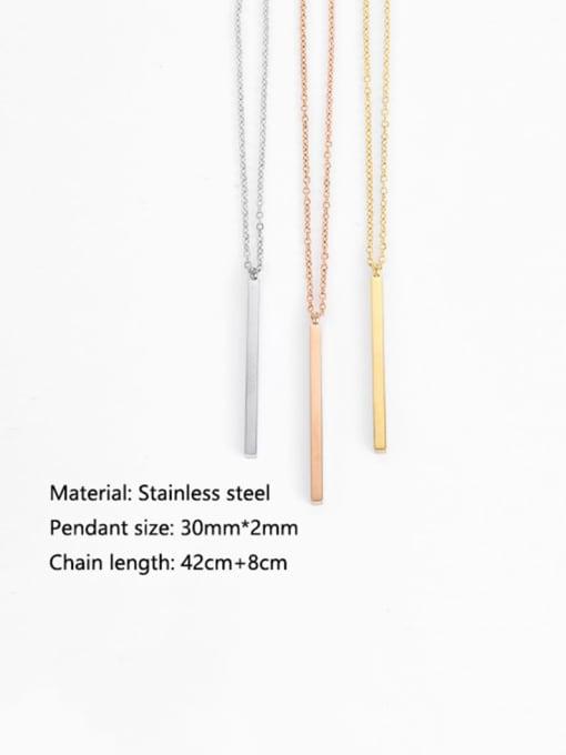 Desoto Titanium Steel  Minimalist Geometric Pendant Multi Strand Necklace 3