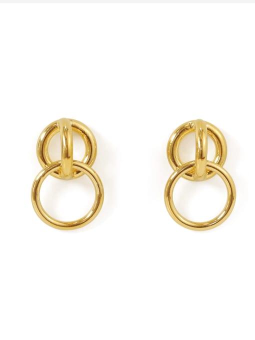 ACCA Brass Hollow geometry Vintage Drop Earring