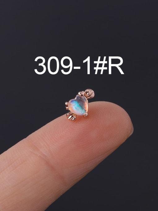 1 Rose Gold  Single Brass Cubic Zirconia Geometric Hip Hop Chandelier Earring