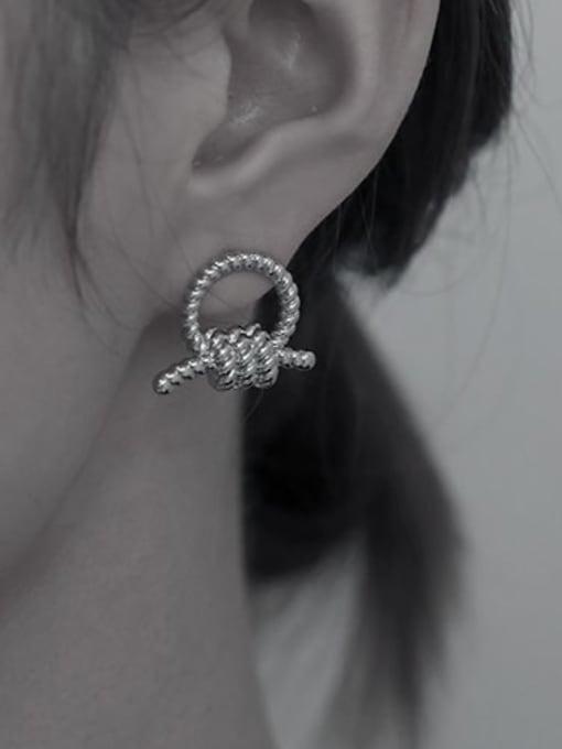 TINGS Brass Knot Geometric Vintage Stud Earring 1