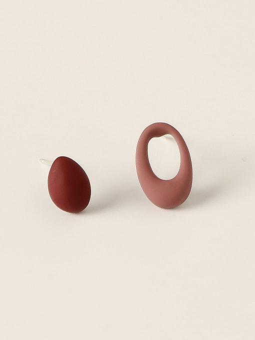 HYACINTH Brass Enamel Geometric Minimalist Stud Trend Korean Fashion Earring 3