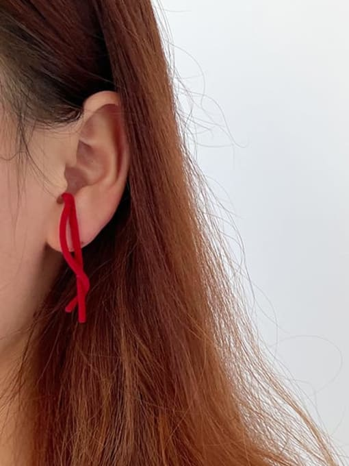 Five Color Alloy Irregular Minimalist Threader Earring 2