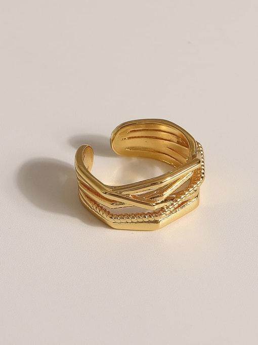 JZ089 Brass Geometric Vintage Band Ring