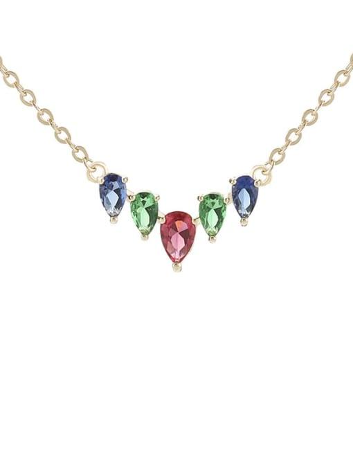 YILLIN Brass Cubic Zirconia Heart Minimalist Necklace 0
