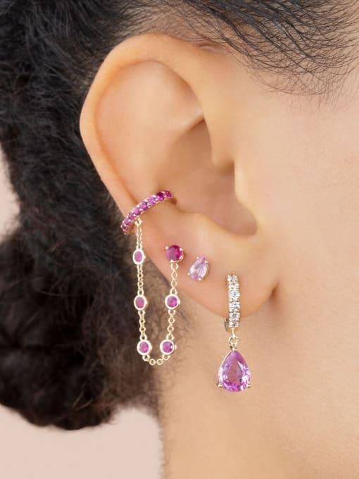 COLSW Brass Cubic Zirconia Water Drop Minimalist Drop Earring 3