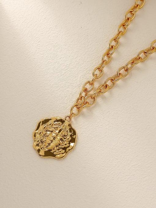 HYACINTH Brass Vintage Geometric Pendnat Trend Korean Fashion Necklace 3