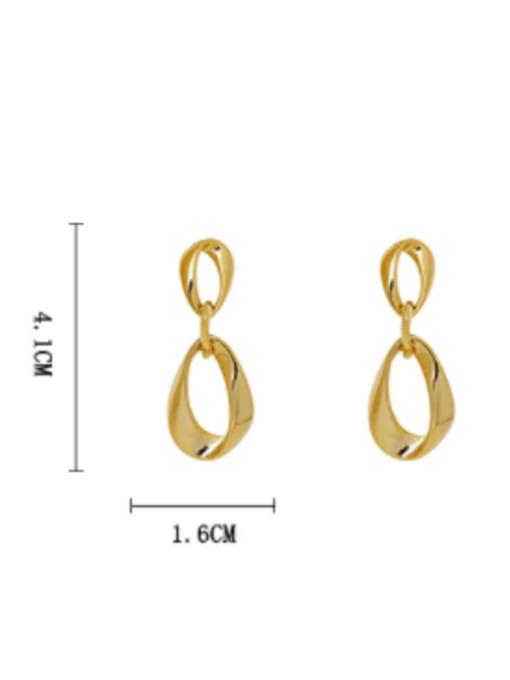 HYACINTH Brass Hollow Water Drop Minimalist Drop Earring 2