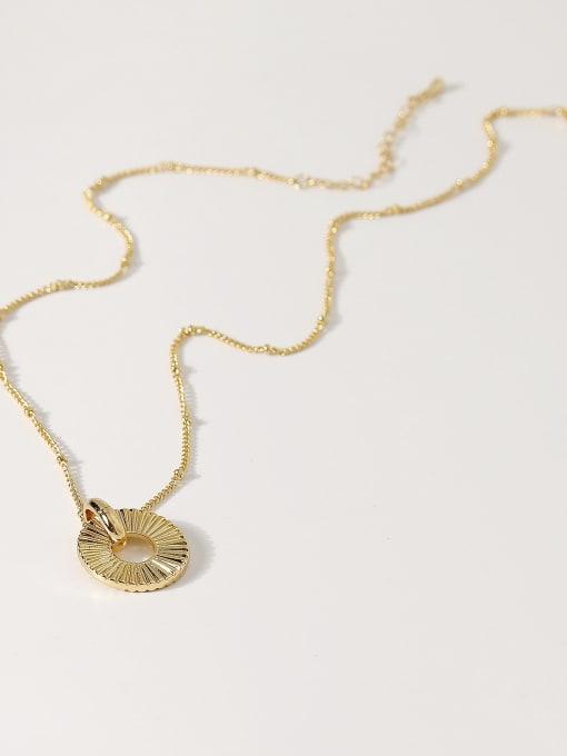 14k gold Brass Round Hip Hop Necklace