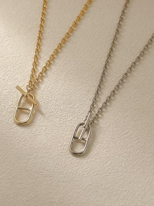 HYACINTH Brass Hollow Geometric Vintage Trend Korean Fashion Necklace 2