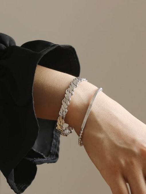 ACCA Brass Geometric Vintage Geometric chain vintage twist  Bracelet 1