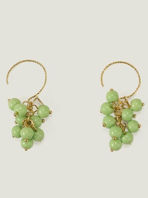 Five Color Alloy Bead Enamel Friut Bohemia Hook Earring 2