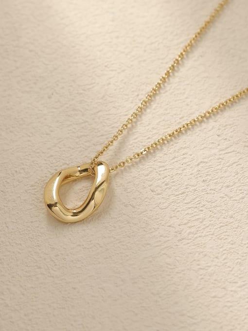 HYACINTH Brass Hollow Geometric Vintage Trend Korean Fashion Necklace