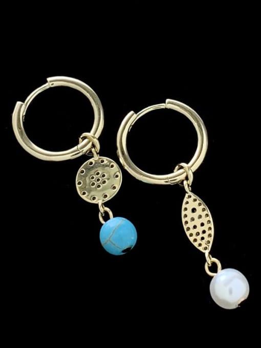 SUUTO Brass Cubic Zirconia Evil Eye Vintage Huggie Earring 2