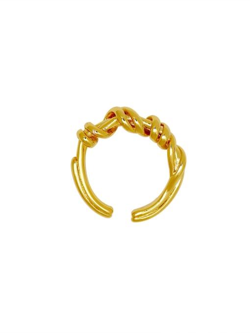 HYACINTH Brass Geometric Vintage Band Ring 3