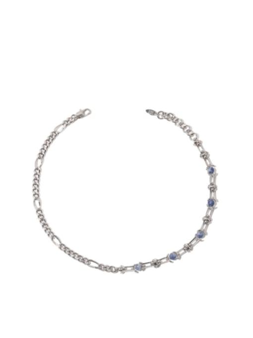 steel Brass Cloisonne Geometric Vintage Necklace