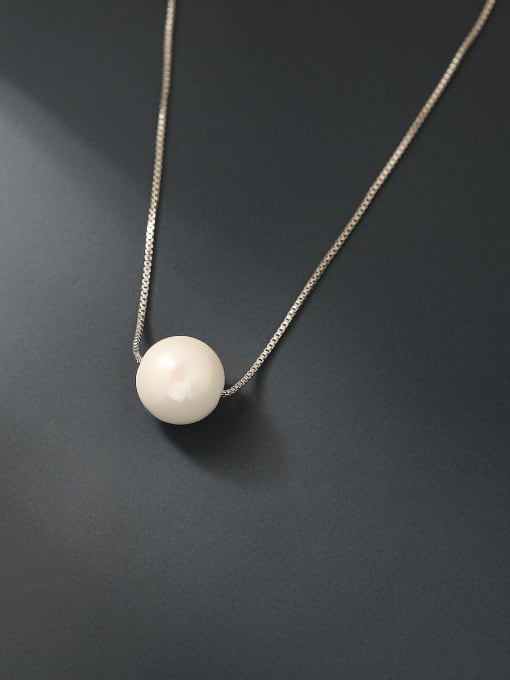 HYACINTH Brass Imitation Pearl Locket Minimalist Trend Korean Fashion Necklace