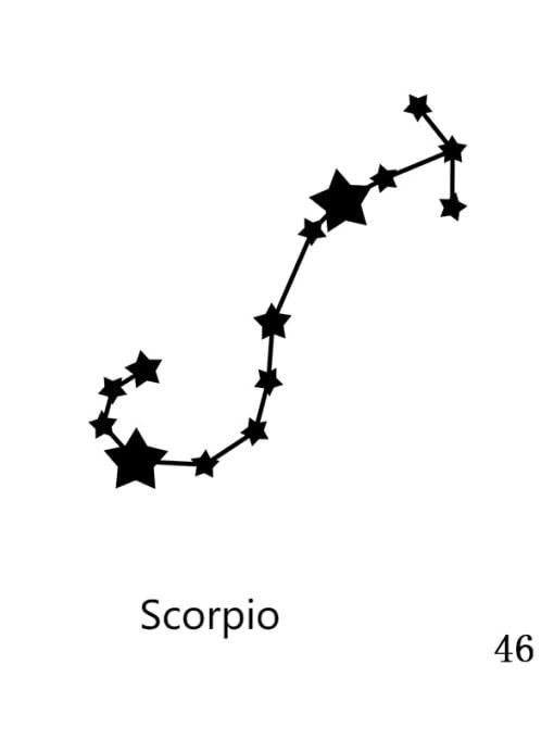 46 Scorpio Stainless steel Constellation Minimalist Round Pendant Necklace