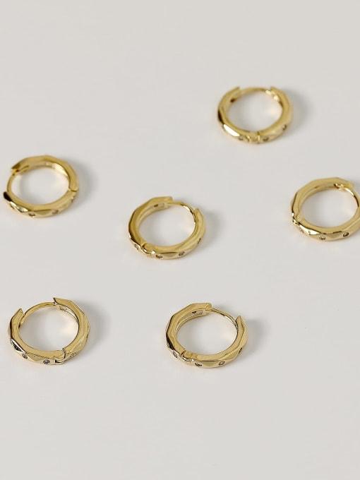HYACINTH Brass Geometric Vintage Huggie Earring 0