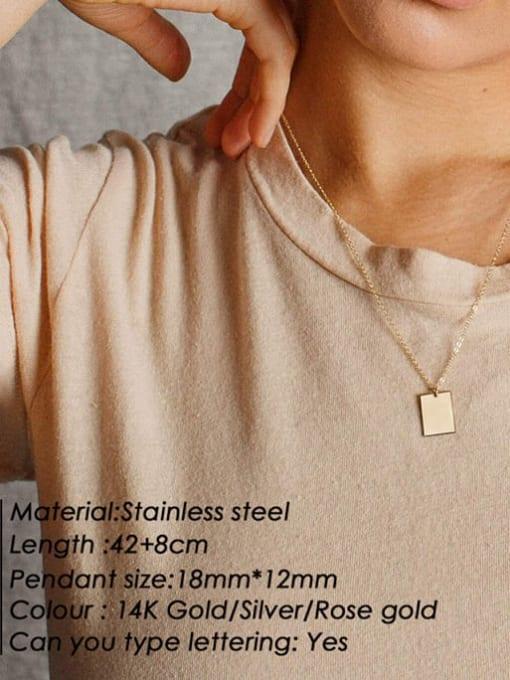 Desoto Stainless steel Geometric Minimalist  Trpe Lettering  Necklace 1
