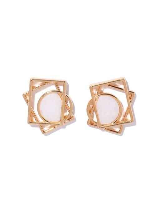 ACCA Brass Hollow Geometric Minimalist Stud Earring