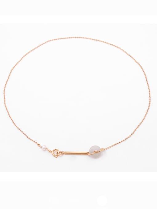 Bead Necklace Brass Bead Geometric Hip Hop Multi Strand Necklace