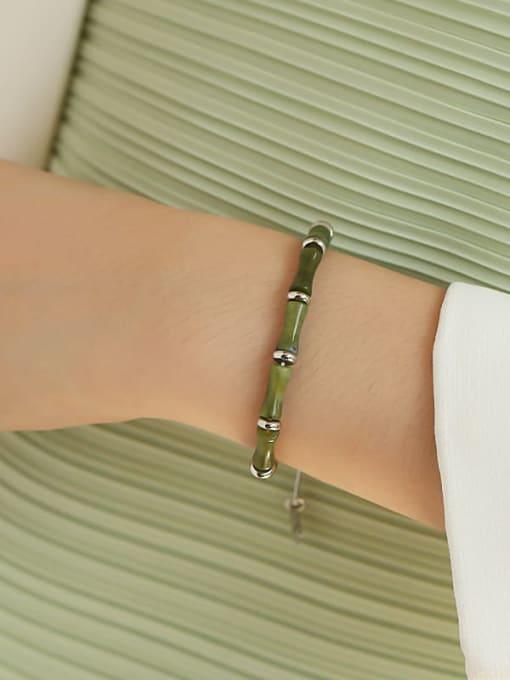 TINGS Brass Enamel Geometric Vintage Necklace 2