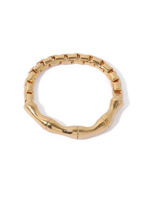 ACCA Brass Irregular Vintage Band Ring 4