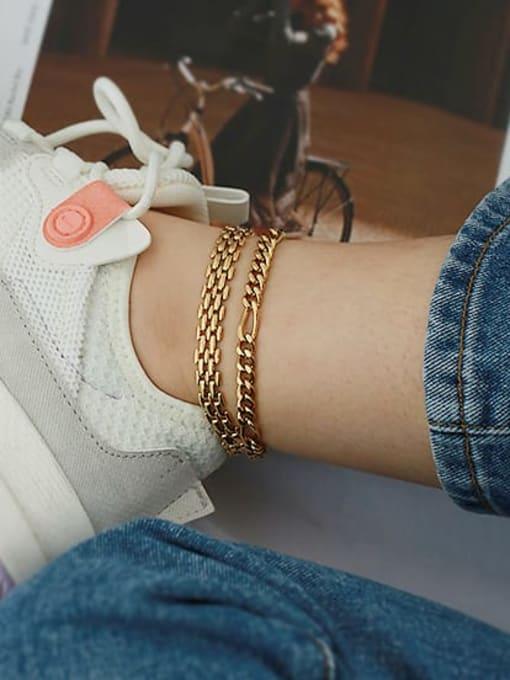 ACCA Brass Irregular Vintage Anklet 1
