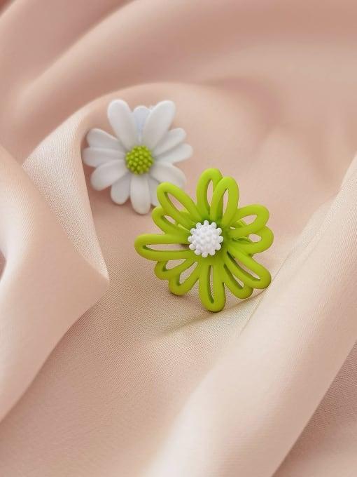 HYACINTH Alloy Enamel Flower Minimalist Stud Earring 0