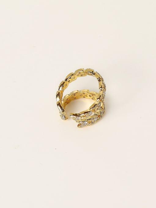 HYACINTH Brass Cubic Zirconia Geometric Minimalist Clip Trend Korean Fashion Earring 3