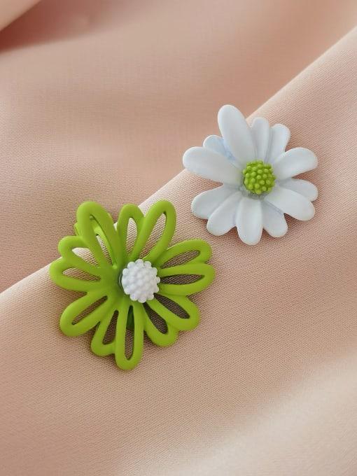 HYACINTH Alloy Enamel Flower Minimalist Stud Earring 2