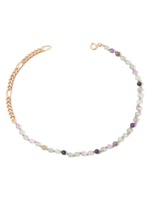 TINGS Brass Freshwater Pearl   Natural stone Hip Hop Necklace