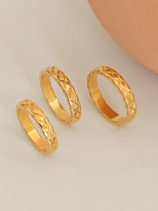 Five Color Titanium Steel Geometric Minimalist Band Ring 1