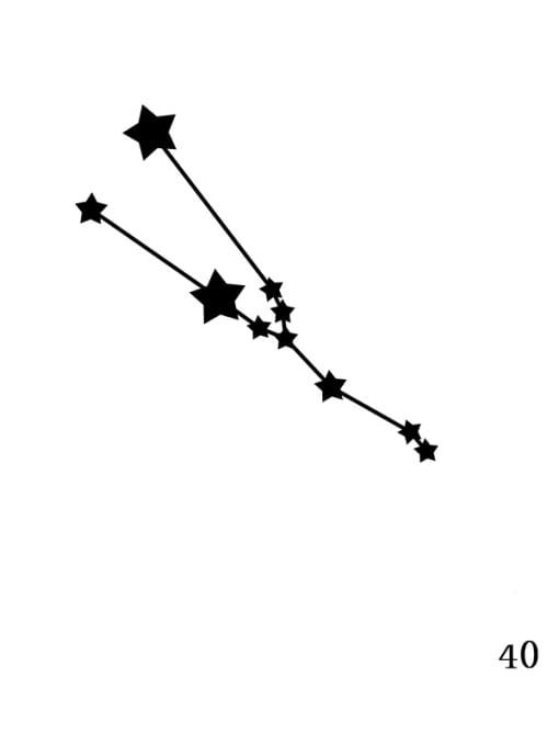 Golden XZ 40 Taurus Stainless steel Constellation Minimalist  geometry Pendant Necklace