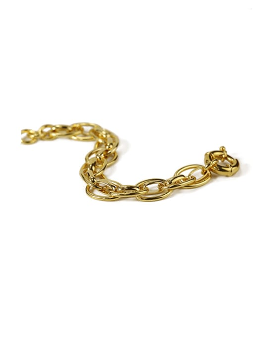 ACCA Brass Hollow Geometric  Chain Vintage Link Bracelet 2