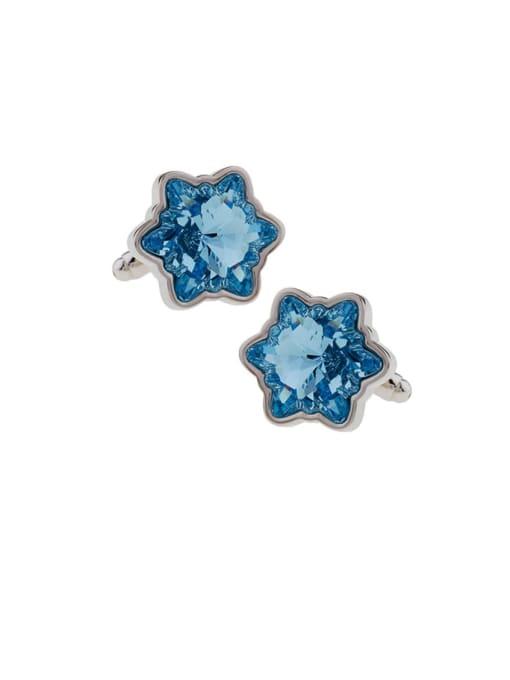 ThreeLink Brass Crystal Star Minimalist Cuff Link 2