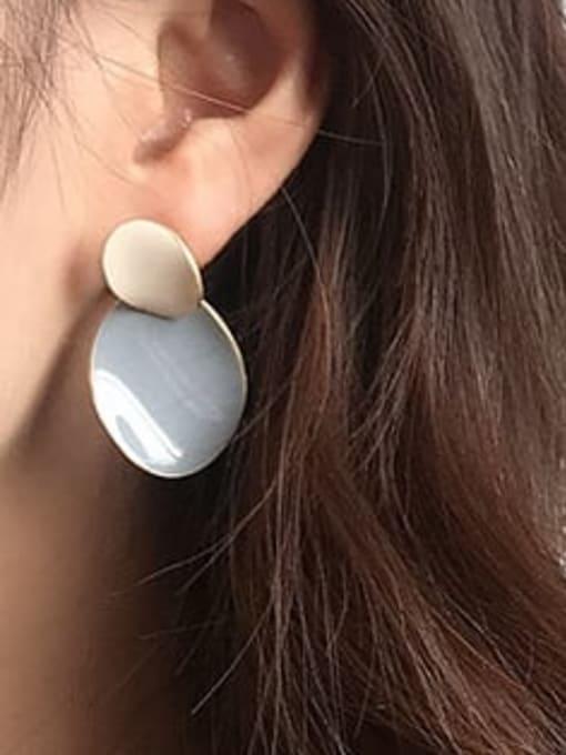 Five Color Alloy Enamel Geometric Cute Drop Earring 1