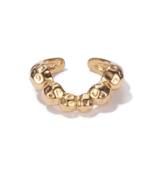 golden Brass Irregular Vintage Band Ring