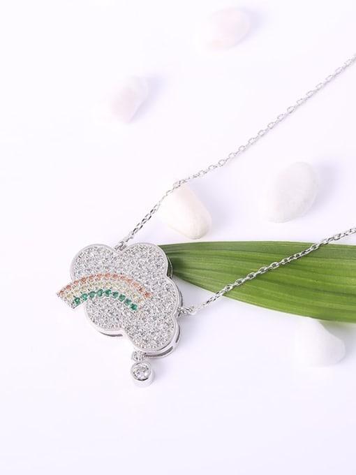 YILLIN Brass Cubic Zirconia Cloud Minimalist Necklace 1