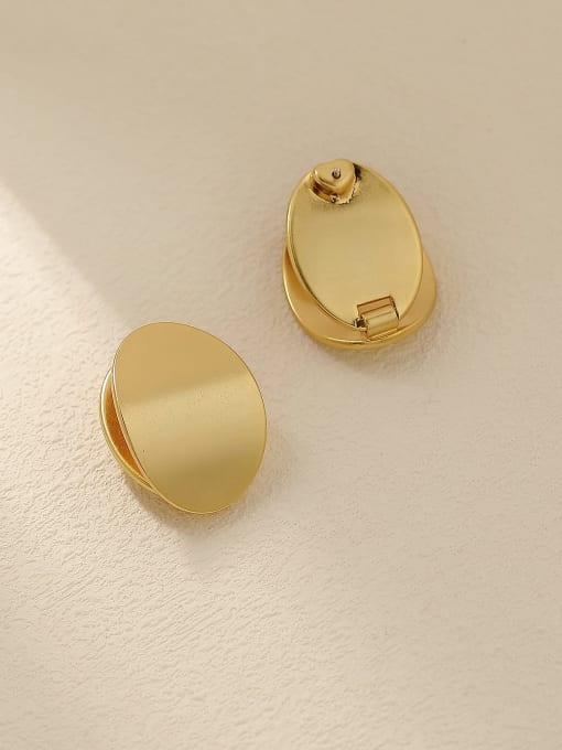 HYACINTH Brass Smooth Geometric Minimalist Stud Trend Korean Fashion Earring 2