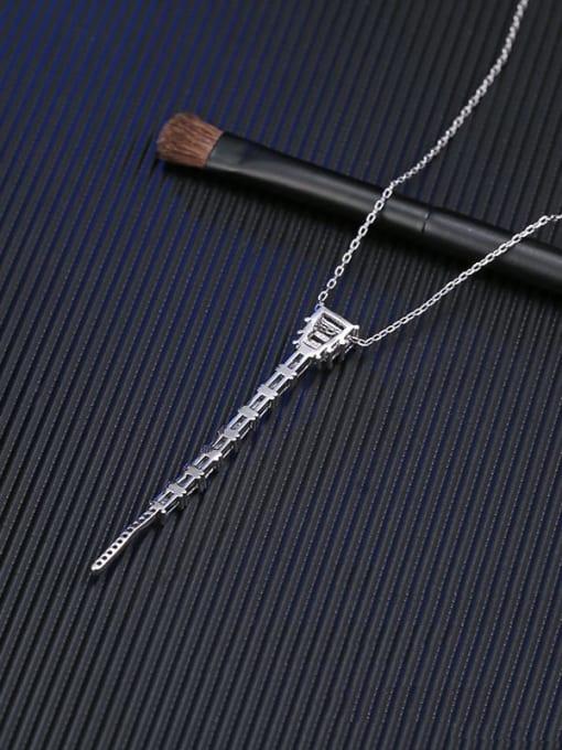 YILLIN Brass Cubic Zirconia Geometric Vintage Tassel Necklace 3