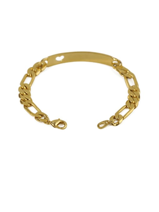 golden Brass Smooth Geometric Vintage Bracelet
