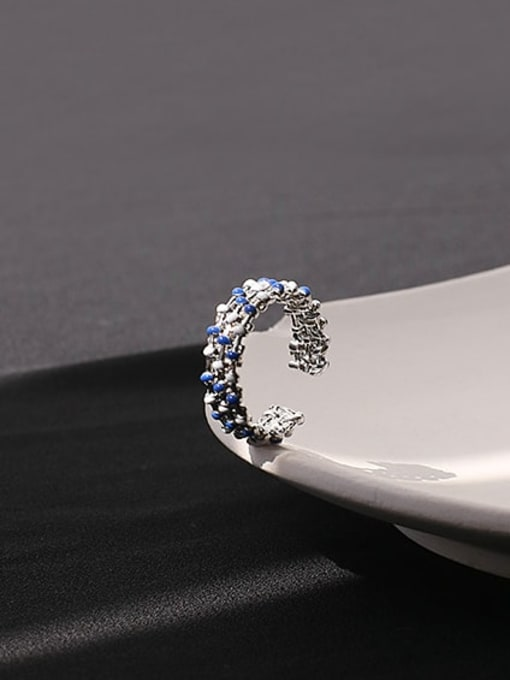ACCA Brass Enamel Geometric Minimalist Band Ring 3