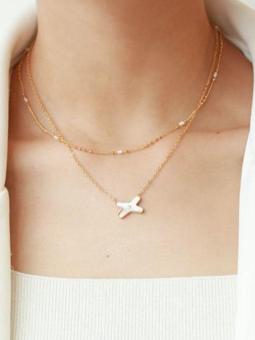 Five Color Brass Minimalist  Line Chain Necklace 2