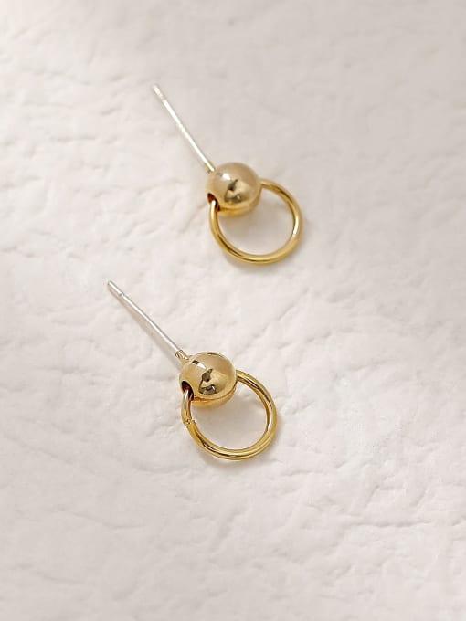HYACINTH Brass Geometric Vintage Stud Trend Korean Fashion Earring