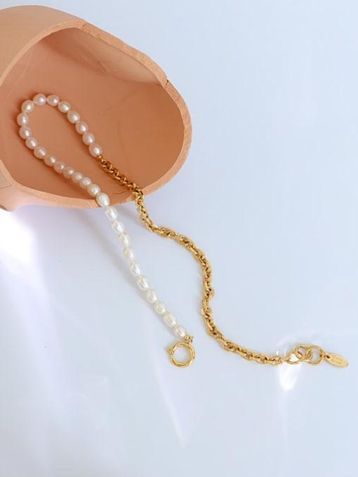 Five Color Brass Imitation Pearl Irregular Vintage Necklace 2