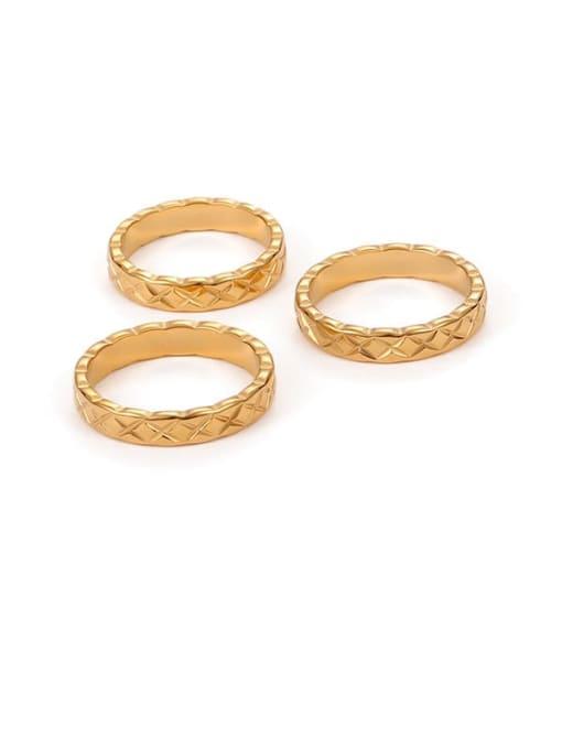 Five Color Titanium Steel Geometric Minimalist Band Ring 0