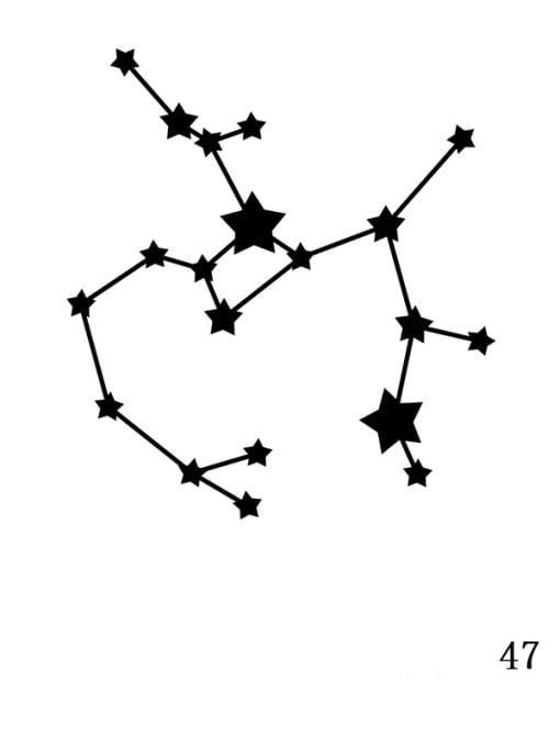 Golden XZ 47 Sagittarius Stainless steel Constellation Minimalist  geometry Pendant Necklace