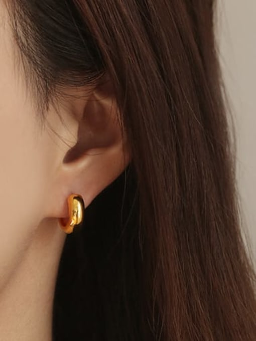 Small (Single Sale) Brass Round Minimalist Huggie Earring(ONLY ONE PCS)